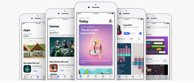 vernieuwe app store in iOS 11
